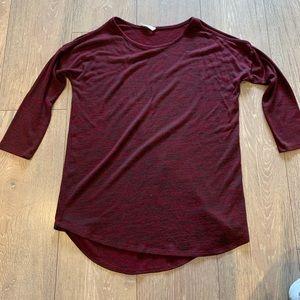 Women's 3/4 Length Cold Shoulder Shirt